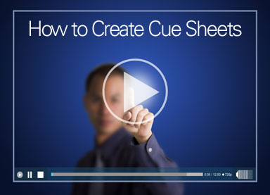 How to Create Cue Sheets